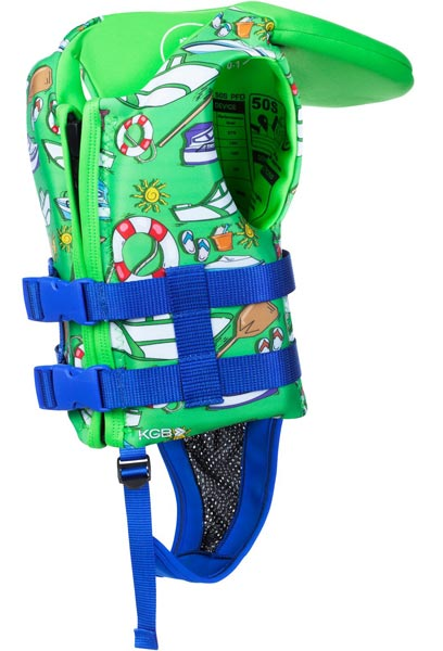 KGB Junior Boys Lime Infant Collar L50s 0-1