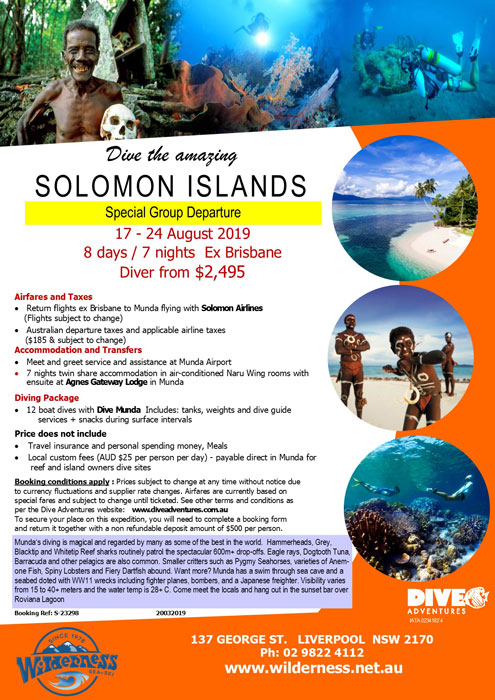 Solomon Islands Dive Trip Aug 2019