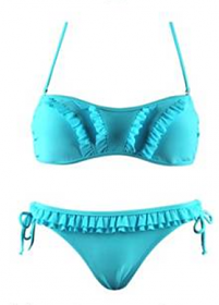 WOW Bikini Curved Frill Blue