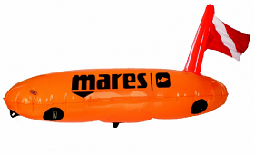 Mares Float & Flag Torpedo Marker Buoy