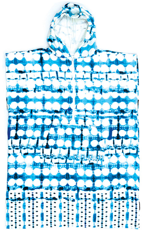 O&E Tie Dye Hooded Poncho Towel