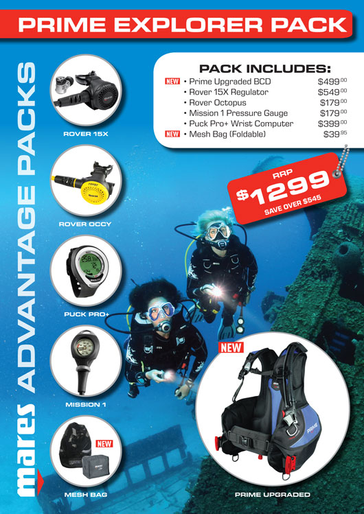 Mares Prime Dive Package