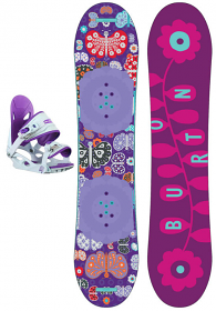 Burton Chicklet w/Solstice Jnr Purple