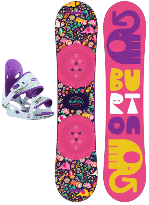 Burton Chicklet w/Solstice Jnr Purple 2018