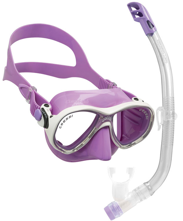 Cressi Marea VIP Junior Set Lilac