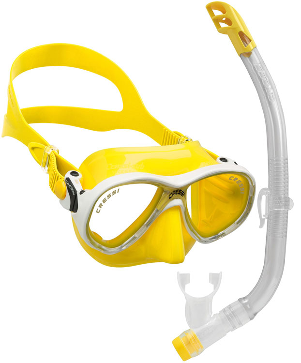 Cressi Marea VIP Junior Set Yellow