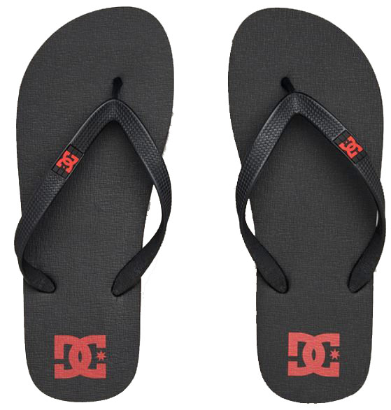 DC Spray Thongs Blk/Red