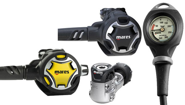 Mares Dual 15X Reg/Occy/SPG1 Package