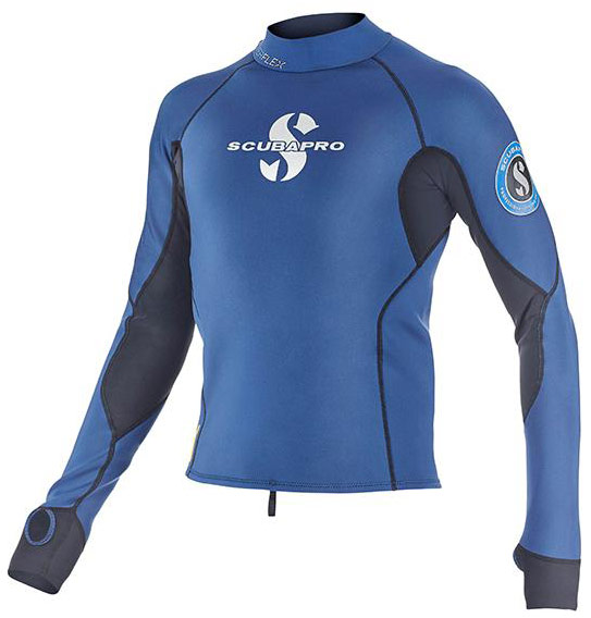 Scubapro Mens Everflex Top 1.5mm L/S Blue