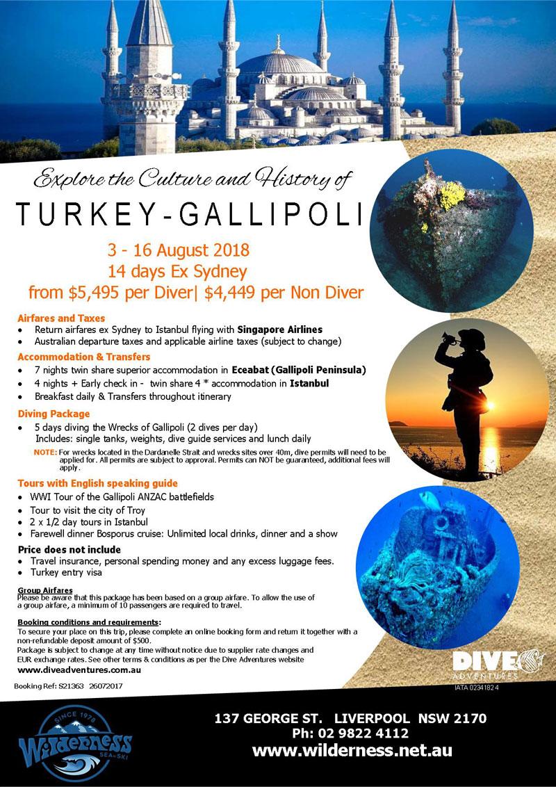 Gallipoli Dive Trip August 2018