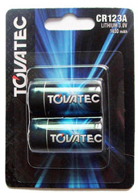Tovatec CR123A Batteries