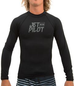 Jetpilot Mens Logo L/S Black
