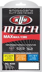 KUU Mach Snowboard 3 Temp Pack Wax