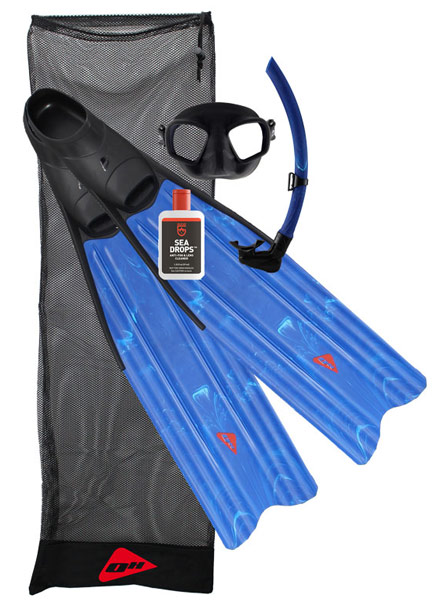 Pelagic Spirit Blue Fins Package