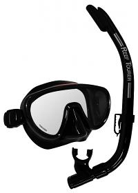 Tusa Ranger Mask & Snorkel Black