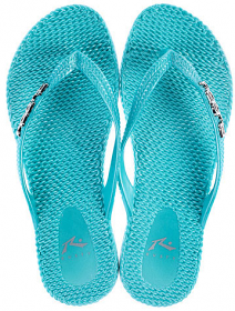Rusty Flippin Metallic Thongs - Mint