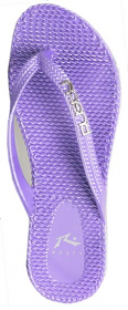 Rusty Flippin Metallic Thongs Lavender