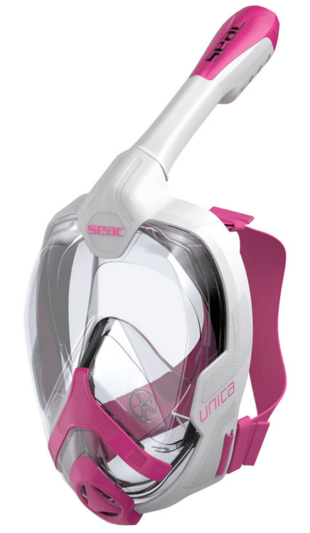 Seac Unica Full Fask Mask & Snorkel Pink