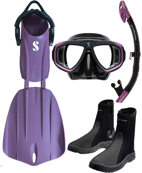 Scubapro Nova 2 Fin Package Purple