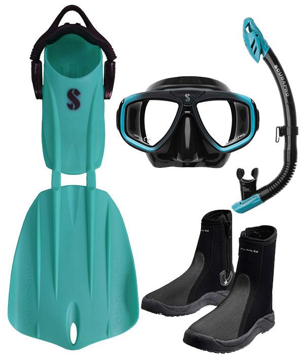 Scubapro Nova 2 Fin Package Turquoise