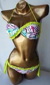 WOW Bikini Twist White Print