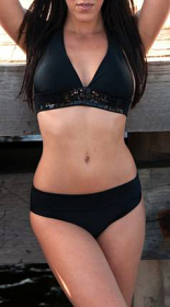 WOW Bikini Black Band Halter