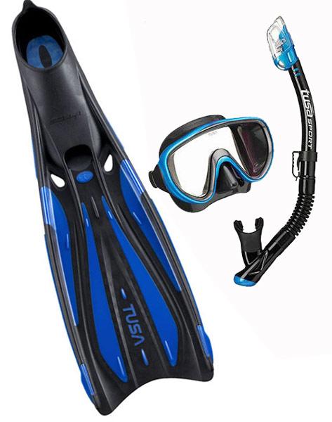Tusa Sola FF23 Fin & Serene Mask Set Blue