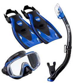 Tusa Sport Visio Tri-Ex Travel Set Blue