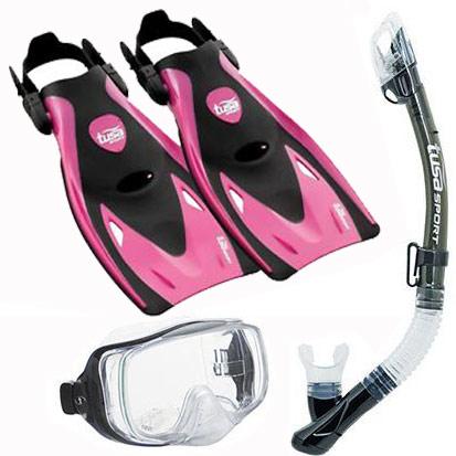 Tusa Sport Imprex 3D Dry & UF21 Fin Set Pink