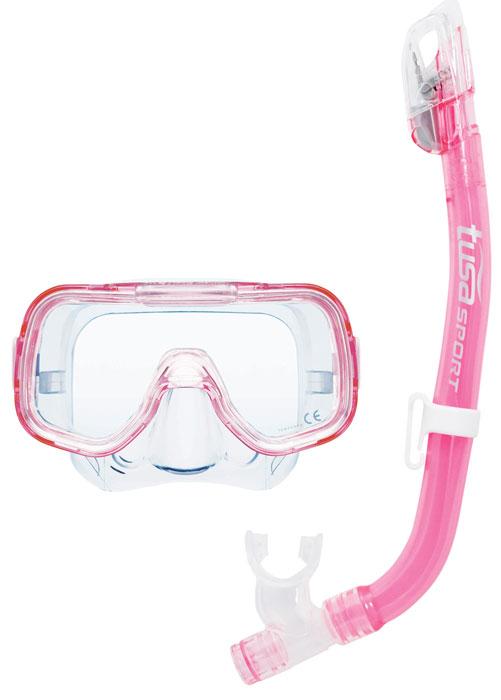 Tusa Mini Kleio & Dry Top Snorkel Pink