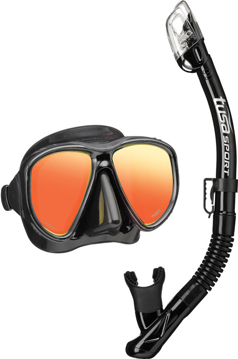 Tusa Powerview Mask & Snorkel Black