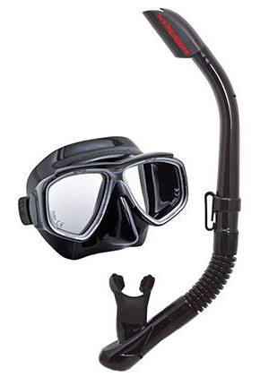 Tusa Splendive Mask & Snorkel Black