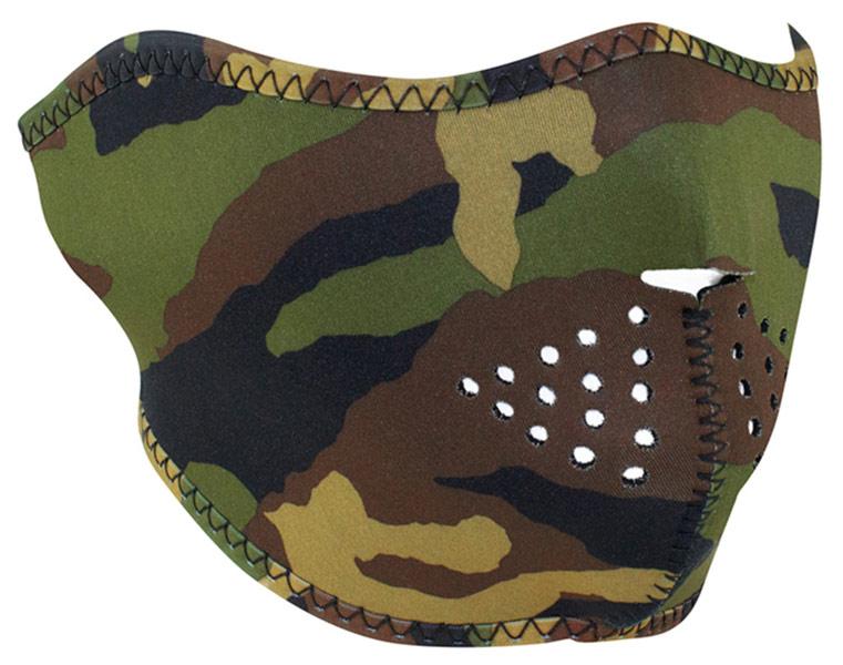 Zanheadgear Half Face mask Camo HV