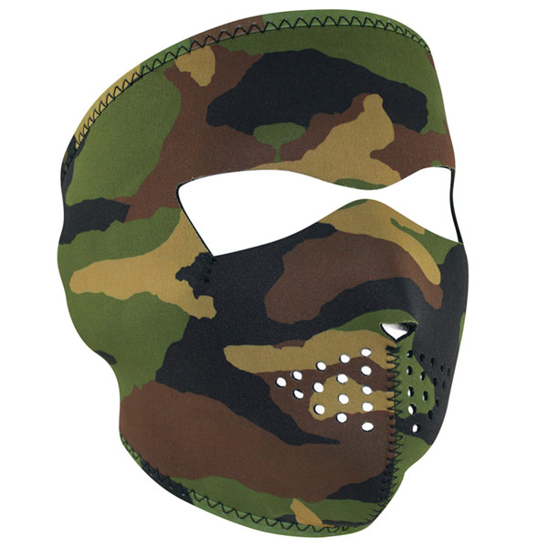 Zanheadgear Full Face Mask Camo HV