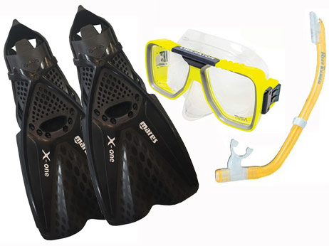 Mares X One Fin & Tusa Liberator mask Set