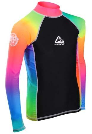 Adrenalin Junior L/S Rash Shirt Rainbow