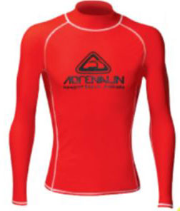 Adrenalin Junior Vivid L/S Rash Shirt Red