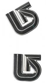 Burton Alum Logo Mat Silver