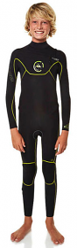 Quiksilver Boys Cypher 3/2 Full Blk/Yel
