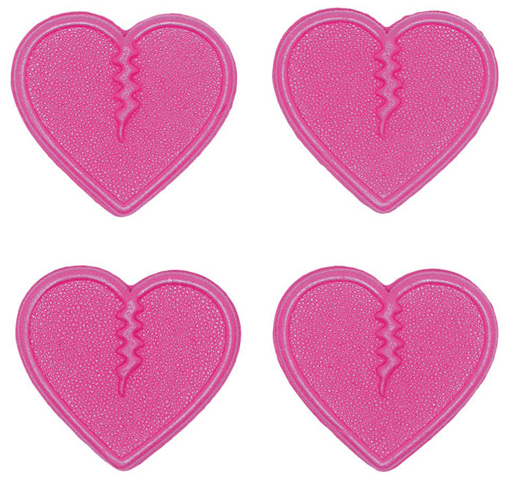 Crab Grab Mini Hearts Stomp Pads 4pk