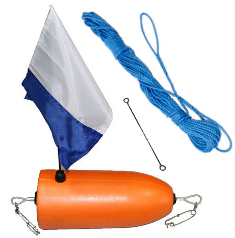 Cressi 5LT Rigid Float,Flag & 15m line