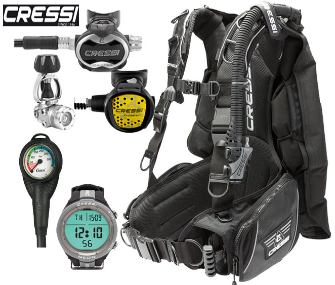 Cressi Commander BCD Dive Package