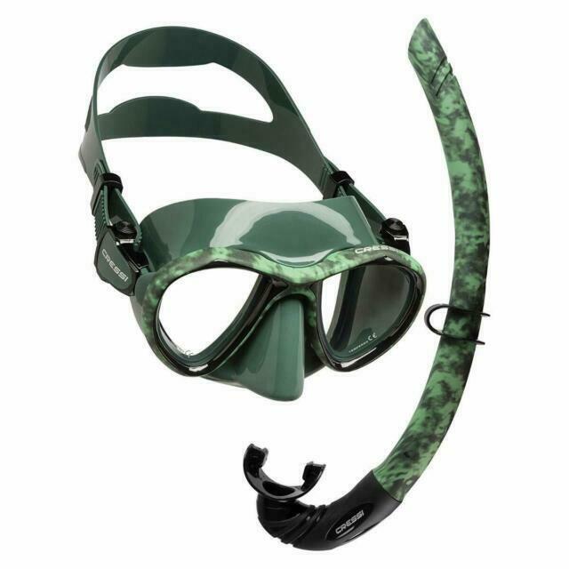 Cressi Hunter Green Mask & Snorkel