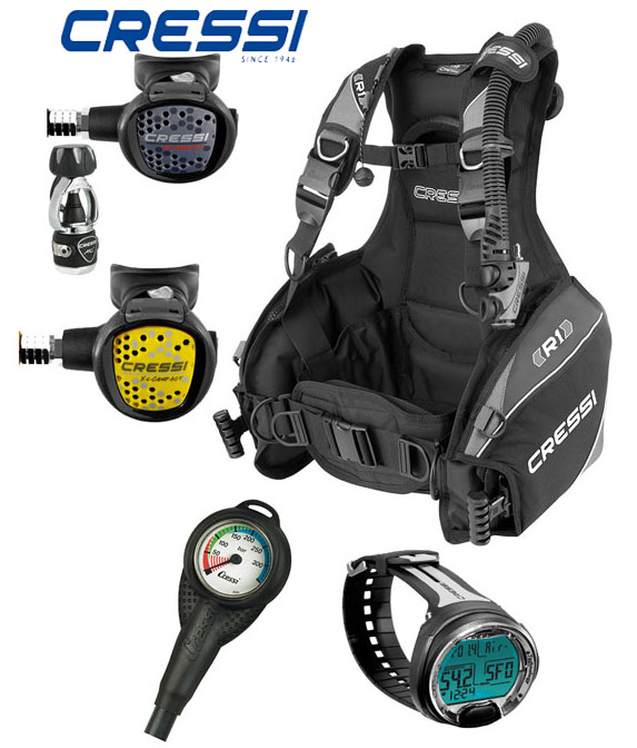 Cressi R1 BCD Dive Package