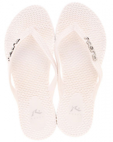 Rusty Flippin Metallic Thongs - White