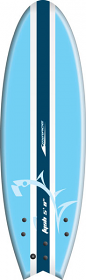 "Mirage Fysh Softboard 5'8"" Blue"