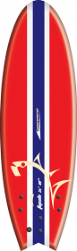 """Mirage Fysh Softboard 5'8"""" Red"""