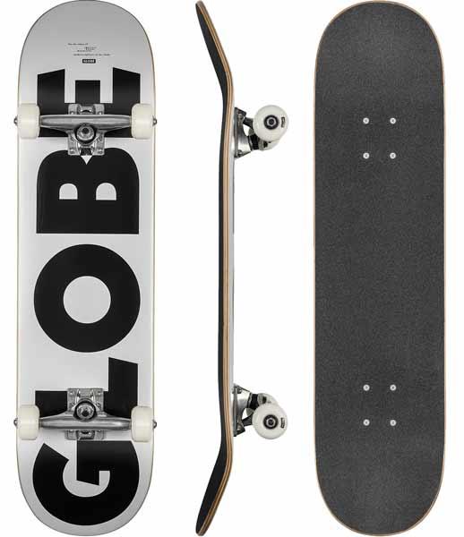 """Globe G0 Fubar White/Black 8.0"""""""