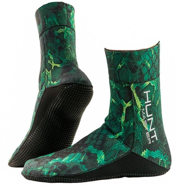 Huntmaster 3.5mm Fin Sock Green