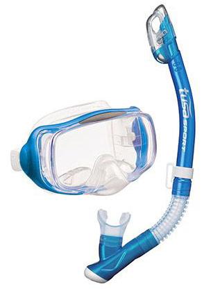 Tusa Imprex 3D Dry Mask & Snorkel Blue